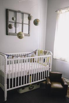 Globe Themed Nursery #baby #nursery