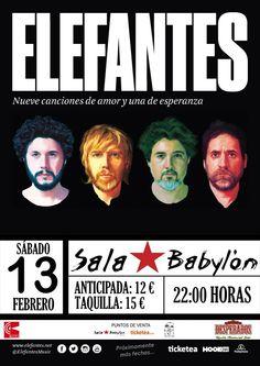Cartel del #concierto de @ElefantesMusic @SalaBabylon1 #Cuenca #VisteMusica  http://www.latiendadelosartistas.com/es/81-fabricante-del-merchandising-oficial-de-elefantes