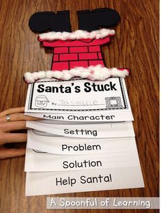 Teach Your Child to Read - Santas Stuck Craft and Story Elements - Give Your Child a Head Start, and.Pave the Way for a Bright, Successful Future. Christmas Activities, Christmas Themes, Christmas Fun, Xmas, 2nd Grade Christmas Crafts, Winter Activities, Daily 5, Christmas Writing, First Grade Writing
