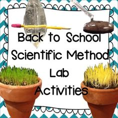 This pack includes 3 scientific method lab activities to start your year off with a bang! The well known 'Drops on a Penny' is included, along with 'Spring a Leak?' and 'Where the Green Grass Grows.' FUN, EASY and CHEAP activities to start your year off! Your students will go home and rave to their parents about how much fun your science class is!