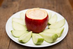 Use an apple to store the apple dip! Love!