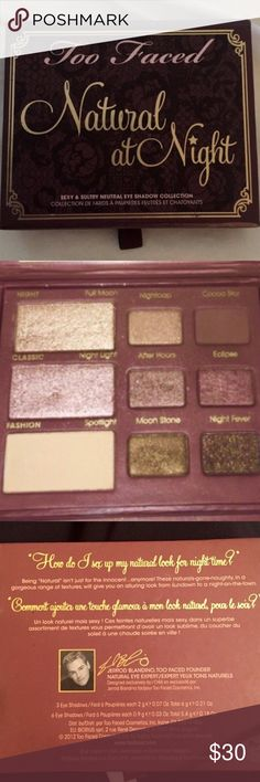 TOO FACED PALLET Used a few times (at the most 5). The top right is the one that was used the most and it's still barely been touched. Too Faced Makeup Eyeshadow
