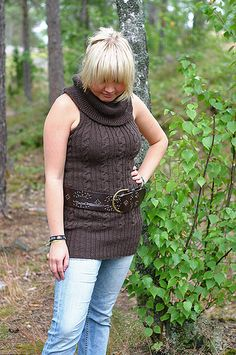 Coffee Tunic by Mira Saarentaus. knit pattern