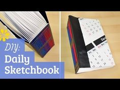 How to Make a Sketchbook: Daily Entry - YouTube