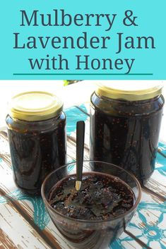 Mulberry Lavender Jam with Honey is not only a very healthy combination of ingredients, which marry perfectly together but also one of the most aromatic and delicious fruit preserves I have ever made. Mulberry Recipes, Jelly Recipes, Jam Recipes, Fruit Recipes, Mulberry Jam, Mulberry Fruit, Cooking Flower, Lavender Jam, Honey