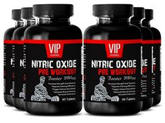 Premium Pre-Workout Nitric Oxide - Nitric Oxide Pre-Workout Booster 3150mg - Boost Performance, Energy and Increase Muscle Gain (6 Bottles 540 Tablets) *** For more information, visit image link.