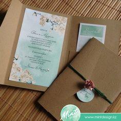 Свадебные пригласительные с конвертом