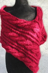 Cable Knit Wrap | AllFreeKnitting.com