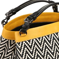 #iconic #cubo One of Caroline's most sold creations - the black and white satin and leather braided #CUBO