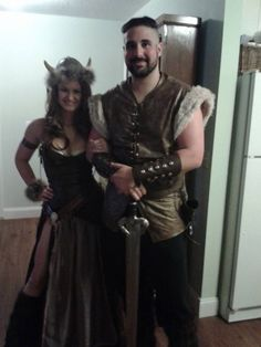 Home-made Viking Halloween Costumes