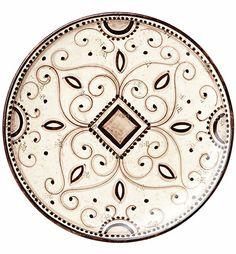 Vietri Arabesca Large Round Decorative Wall Plate