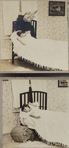 1920s Boogie Man Child Goblins Bedtime Drop Card Series