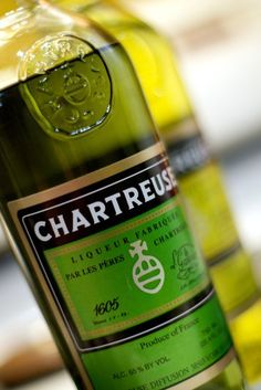 Chartreuse: A liqueur made by Carthusian monks for 400 years, flavored with 130 varieties of herbs, plants, and flowers.  Only three monks know the recipe and all have taken vows of silence.  Sneaky, sneaky.