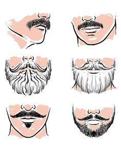 ///// 80% OFF Sale Vector set of hipster mustache ///// Vector set of hipster…