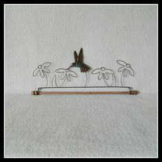 Hummingbird Quilt Hanger ~ Dark Copper Wire, Hand Painted Tin ~ 7.5, 12, 16 or 22 Inches Wide ~ Made in the USA