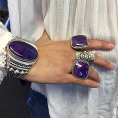 Turquoise Jewelry Ring Deep purple sugilite bracelet and rings by Navajo artist, Albert Lee and sterling silver Ketoh ring by Navajo artist, Clendon Pete. Silver Jewelry Box, Turquoise Jewelry, Boho Jewelry, Sterling Silver Jewelry, Vintage Jewelry, Fine Jewelry, Jewelry Design, Unique Jewelry, Silver Ring