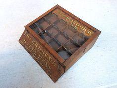 Vintage Antique ESTERBROOK STEEL PENS Fountain Pen Nib DRAWER Store Display Case #Esterbrook
