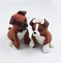 Dog cake toppers for your wedding cake! And our dogs just happen to be a boy & girl...