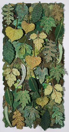 "herminehesse: "" Leaf Flakes by Sharon Nemirov (Yes, these are fabric leaves) """