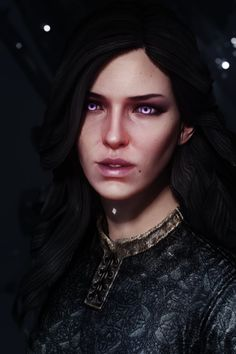 Witcher 3 Yennefer, Yennefer Of Vengerberg, Witcher Art, The Witcher Game, Cool Cartoons, Fantasy Characters, Character Art, 2d, Videogames