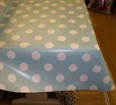PVC Easy Care Wipe Clean Vinyl/Oil Cloth Table Covering   Aqua(Blue/