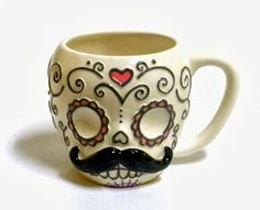 Halloween Shopaholic: Tea and Coffee with Day of the Dead Sugar Skulls