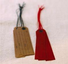 Japanese wax paper hang tags