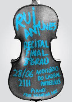Violin recital poster by Joana Coelho