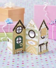 Houses template from issue 149 of Papercraft Inspirations magazine