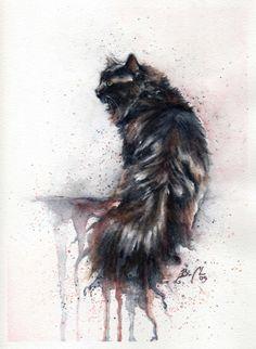 *Watercolor - Cat by Braden Ducan