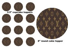 Louis Vuitton Birthday Event Party Edible Image Cupcake Cake Frosting Sheet  #LittlePeapod