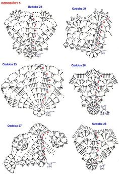 Crochet Christmas ball ornament pattern+ symbol diagram - Her Crochet Crochet Snowflake Pattern, Christmas Crochet Patterns, Crochet Snowflakes, Crochet Motifs, Holiday Crochet, Crochet Stitches Patterns, Crochet Chart, Crochet Doilies, Crochet Flowers