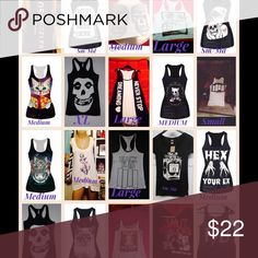New punk pinup killstar liquorbrand tanks Various. Comment which one u would like Tops Tank Tops