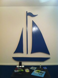 Huge Wooden Sailboat by MyShopYourShop on Etsy, $65.00