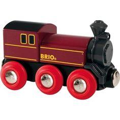 Brio Rote Dampflok 33616. Dieser historische Dampfzug mit sechs Rädern befeuert die Imagination jeden Kindes. Durch Magnete lässt sich die Schiebelok vorne und hinten an jedem beliebigen Waggon anschließen.  http://www.briobahn.ch/brio-eisenbahn-rote-dampflok-33616.html