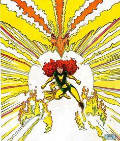1987 - Classic X-Men #9 front piece art by Art Adams. Jean Grey/Phoenix.