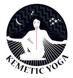 Kemetic Yoga logo - Papatūānuku, Hineahuone, Poutama design, Tama-nui-te-rā, pose of imortality, Matariki, Te Marama ...