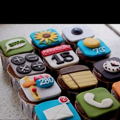 App Cupcakes - love this for a teen bday!
