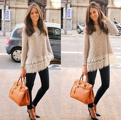 women Jump long Sleeve lace BLOUSE loose Sweater Tops pullover Sweat NEW