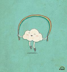 :) #rainbow #doodle