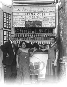 1925 Postcard of couples in a tourist photo booth at Hardie's Bathing Casino during the prohibition - Miami Beach, Florida