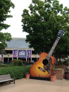 Guitar outside Grand Ole Opry House in Nashville, TN