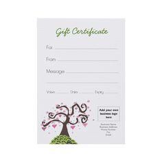Kitchen Homewares Gift Certificate/Gift Voucher DIY Template ...