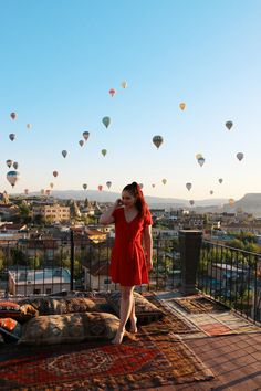 CHLOE.ROXANE - Travel : Discovering Cappadocia, Turkey and falling in love with the scenery, colors and sights. Travel Photography is slowly becoming one of my favorite things to shoot, besides portraits of course, and I cannot wait to discover more fantastic places around the world. This shot was taken at 5 am on the rooftop terrace of our hotel in Göreme, while the balloons lift up over the Cappadocia region. Hot air balloons in Cappadocia are a true phenomenon. The Balloon, Hot Air Balloon, Places Around The World, Around The Worlds, Cappadocia Turkey, Looking Out The Window, Rooftop Terrace, Another World, Chloe