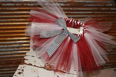 University of Alabama tutu ♥ -- if I ever have a daughter, I'd probably make her this. haha