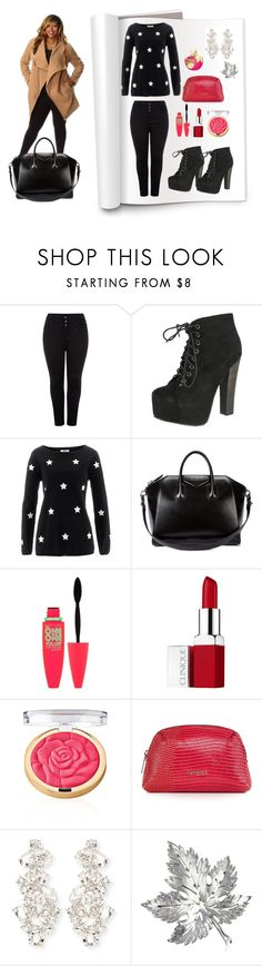 """""""##27"""" by edin-levic ❤ liked on Polyvore featuring New Look, Breckelle's, Givenchy, Maybelline, Clinique, Topshop, Kate Spade, Trifari and Nina Ricci"""