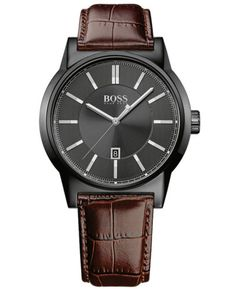 Hugo-Boss-1513071-Mens-Architecture-Stainless-Steel-Brown-Leather-Watch