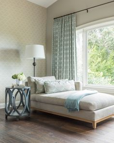 Bon Master Bedroom Seating Area With Custom Window Treatments And Chaise Lounge  Bedroom Transitional By Gilmore Design