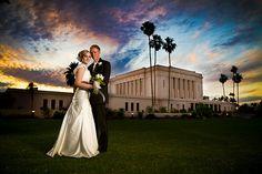 Mesa Arizona Temple Wedding - OMG the SKY!!!  by: http://jerryfergusonphotography.com/