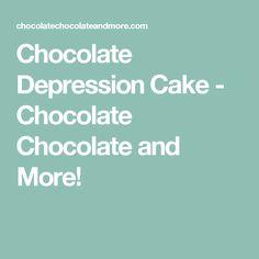 Chocolate Depression Cake - Chocolate Chocolate and More!